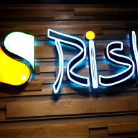 Rishi 2 - face lit and halo lit channel letters