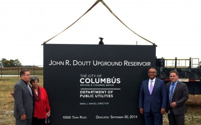 Mayor Coleman Unveils Doutt Reservoir Monument Sign