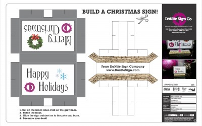 Print & Build a Christmas Sign!