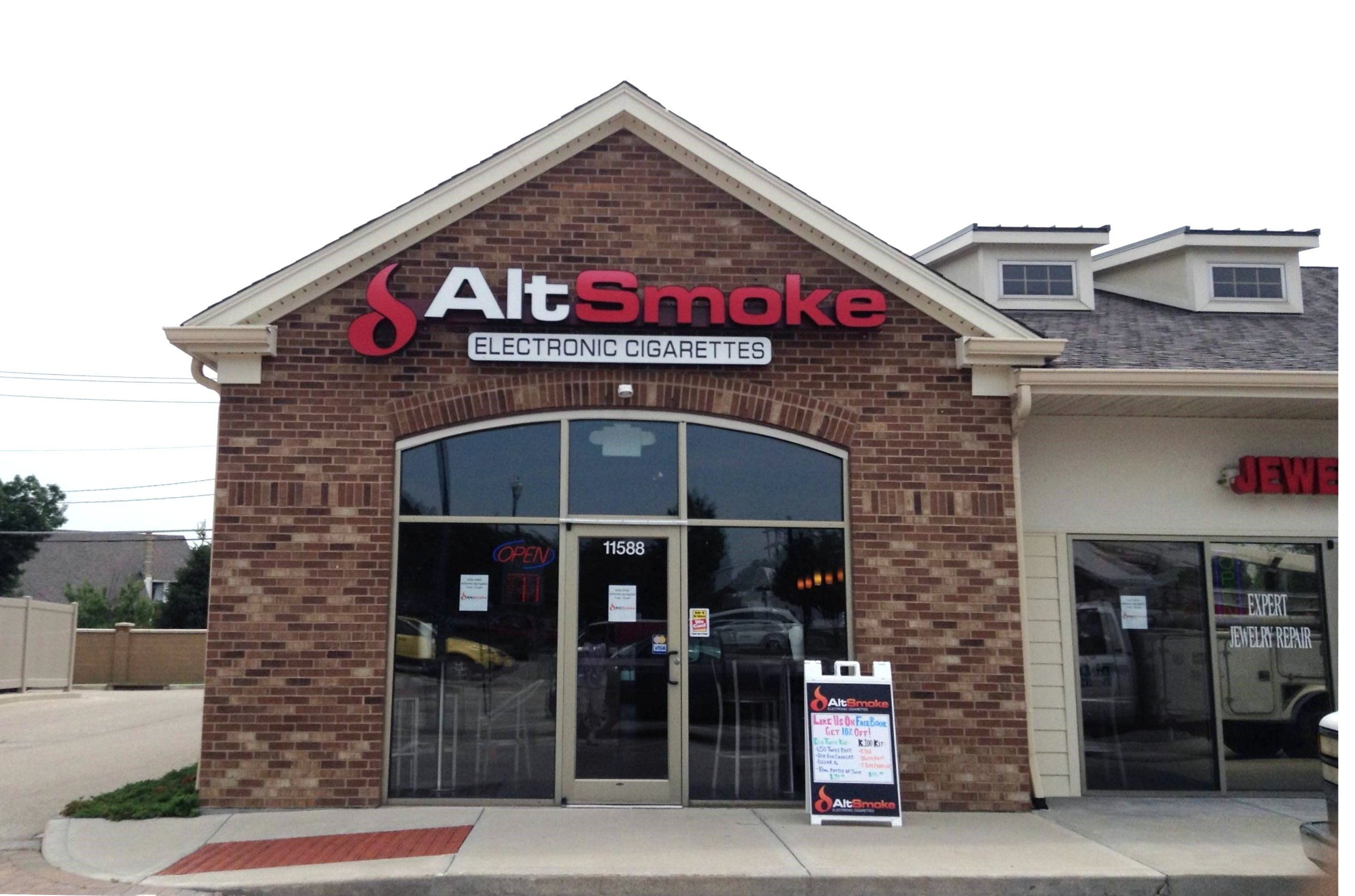Alt Smoke - Springdale - Completion photo - DāNite Sign Co