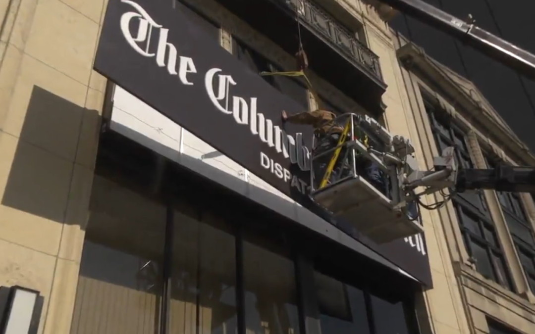 DaNite Installs New Columbus Dispatch Sign