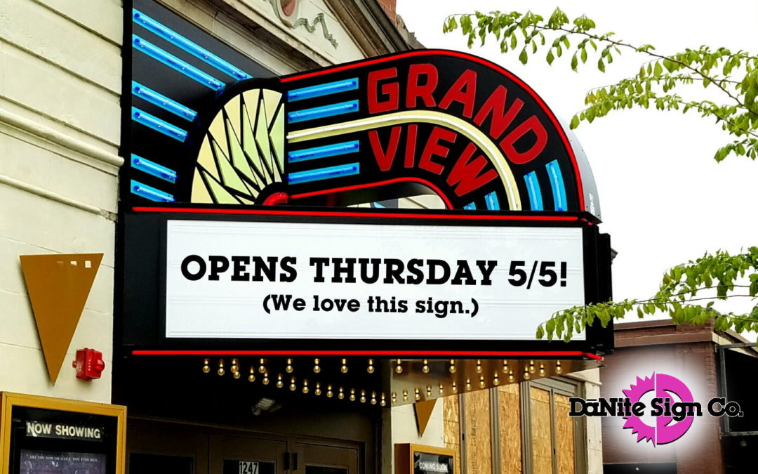 The Grandview Theater:  New Sign, Long History