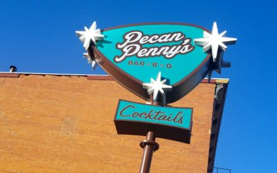 Pecan Penny's Bar>B>Q opens in Columbus with a Custom Menu & Custom Signs
